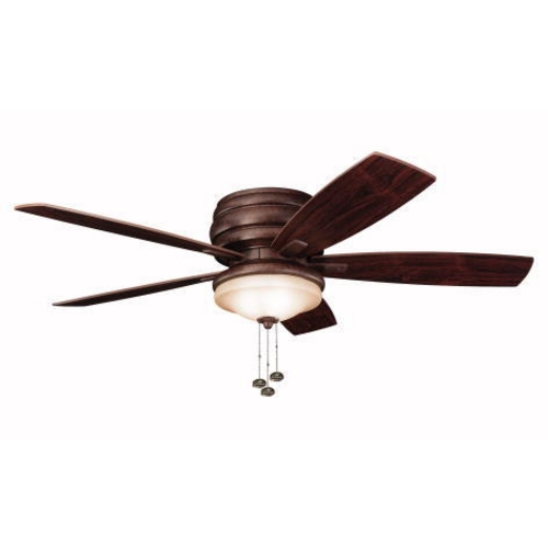 Kichler Lighting Kichler 52-Inch Hugger Ceiling Fan with Five Blades and Light Kit 300119-TZ