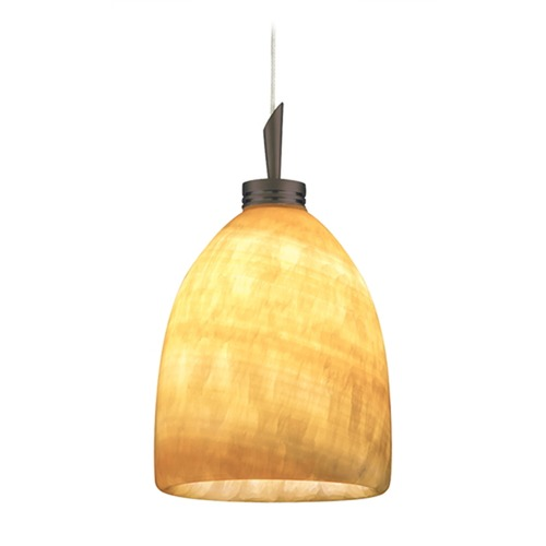 Juno Lighting Group Onyx Stone Low Voltage Mini-Pendant P52MF-BRZ-AMO