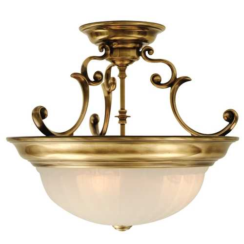 Dolan Designs Lighting Three-Light Semi-Flush Ceiling Light 525-18