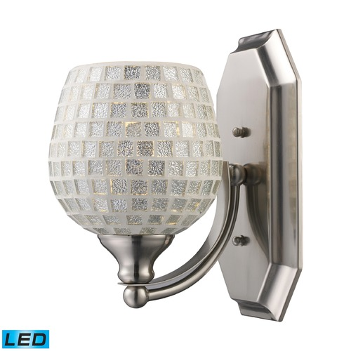 Elk Lighting Elk Lighting Bath and Spa Satin Nickel LED Sconce 570-1N-SLV-LED