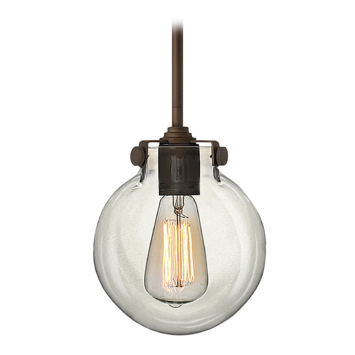 Hinkley Lighting Mini-Pendant Light with Clear Glass 3128OZ