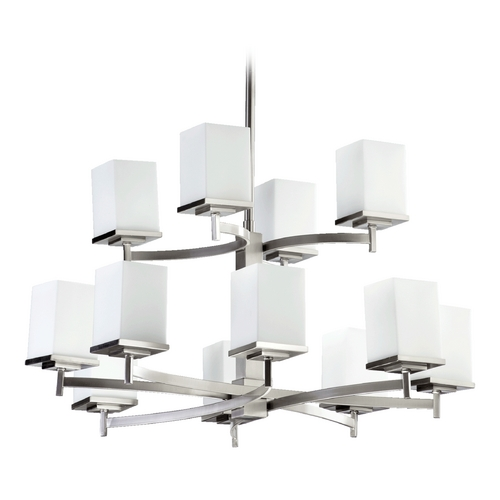 Quorum Lighting Quorum Lighting Delta Satin Nickel Chandelier 6084-12-65