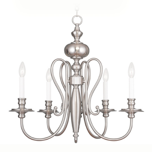 Livex Lighting Livex Lighting Caldwell Brushed Nickel Chandelier 5165-91