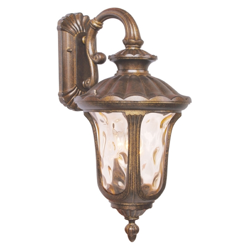 Livex Lighting Livex Lighting Oxford Moroccan Gold Outdoor Wall Light 7657-50