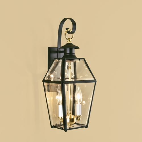 Norwell Lighting Norwell Lighting Olde Colony Black Outdoor Wall Light 1066-BL-BE