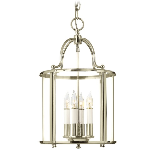 Hinkley Lighting Hinkley Lighting Gentry Polished Nickel Pendant Light with Conical Shade 3474PN