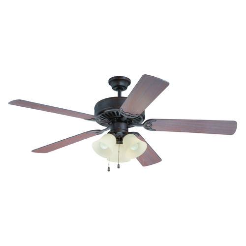 Craftmade Lighting Craftmade Pro Builder 206 Aged Bronze Textured Ceiling Fan with Light K11117
