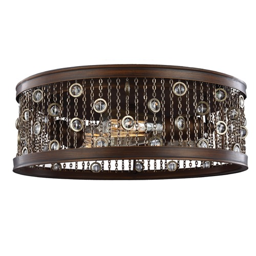 Feiss Lighting Feiss Lighting Colorado Springs Chestnut Bronze Flushmount Light FM449CSTB