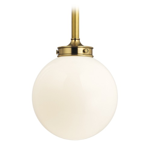 Hudson Valley Lighting Hudson Valley Lighting Concord Aged Brass Pendant Light with Globe Shade 8817-AGB