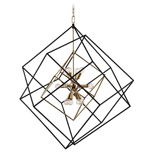 Hudson Valley Lighting Hudson Valley Lighting Roundout Aged Brass Pendant Light 1234-AGB