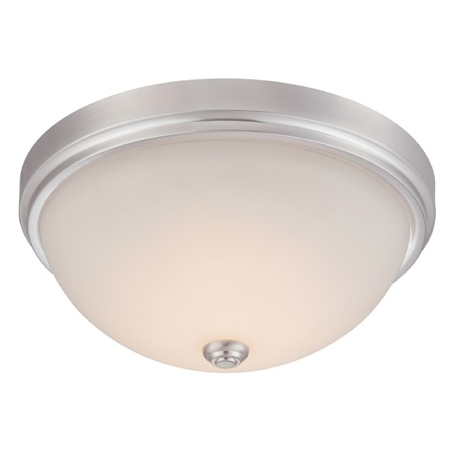Designers Fountain Lighting Designers Fountain Hopkins Satin Platinum LED Flushmount Light LED302M-SP