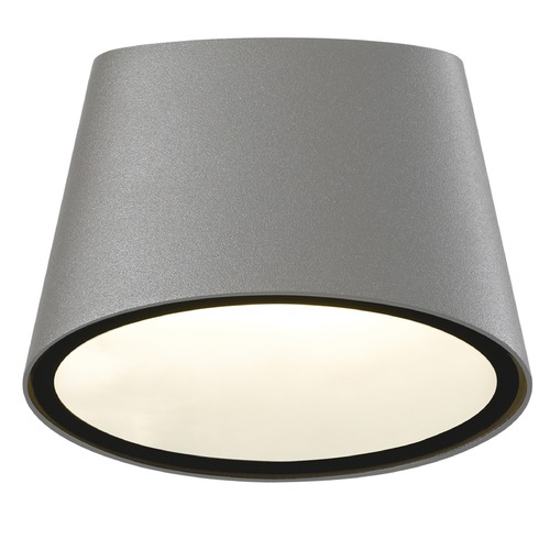 Sonneman Lighting Sonneman Elips Textured Gray LED Outdoor Wall Light 7220.74-WL