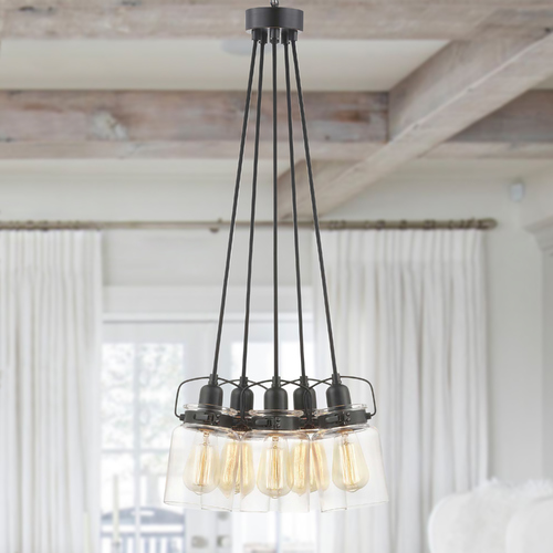 Progress Lighting Progress Lighting Calhoun Antique Bronze 5-Light Chandelier P400133-020