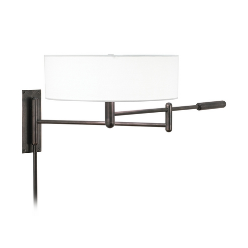 Sonneman Lighting Modern Pin-Up Lamp with White Shade in Black Brass Finish 7002.51