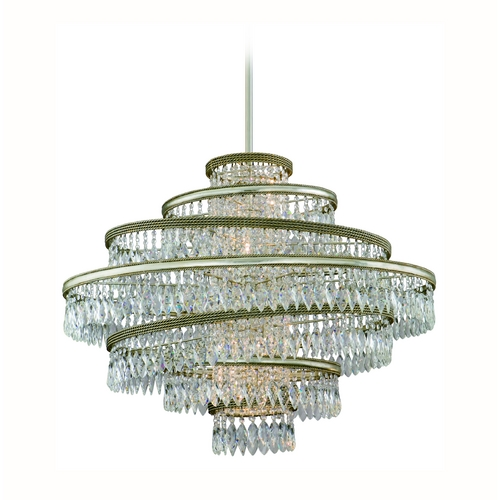 Corbett Lighting Corbett Lighting Diva Silver Leaf W/gold L Island Light 132-46