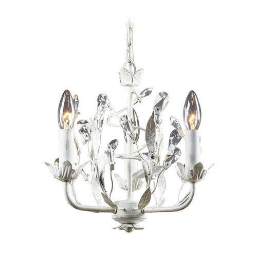 Elk Lighting Mini-Chandelier in Antique White Finish 18112/3