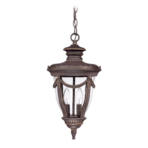 Nuvo Lighting Outdoor Hanging Light with Clear Glass in Belgium Bronze Finish 60/2048