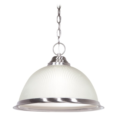 Satco Lighting Ribbed Glass Pendant 76-691