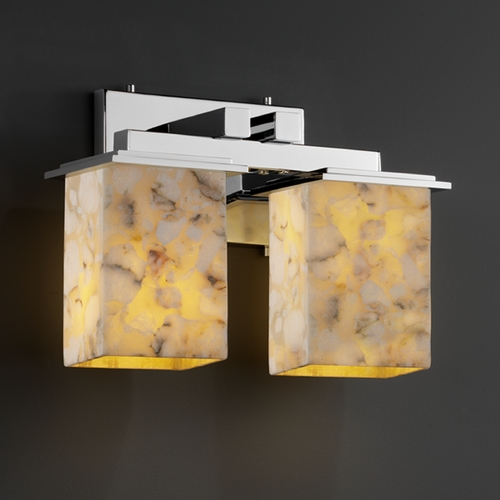 Justice Design Group Justice Design Group Alabaster Rocks! Collection Bathroom Light ALR-8672-15-CROM