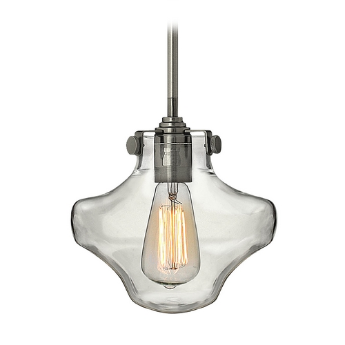 Hinkley Lighting Mini-Pendant Light with Clear Glass 3129AN