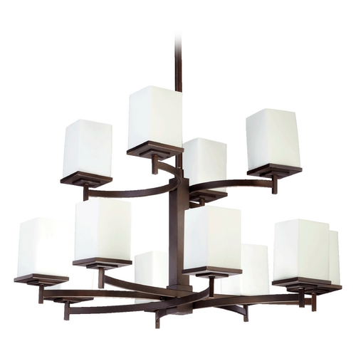 Quorum Lighting Quorum Lighting Delta Oiled Bronze Chandelier 6084-12-86