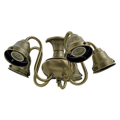 Quorum Lighting Quorum Lighting Antique Brass Fan Light Kit 2530-804