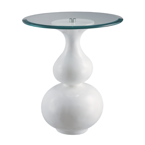 Sterling Lighting Sterling Lighting White Accent Table 6042732