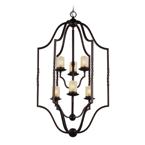 Sea Gull Lighting Sea Gull Lighting Trempealeau Roman Bronze Pendant Light with Cylindrical Shade 5110606-191