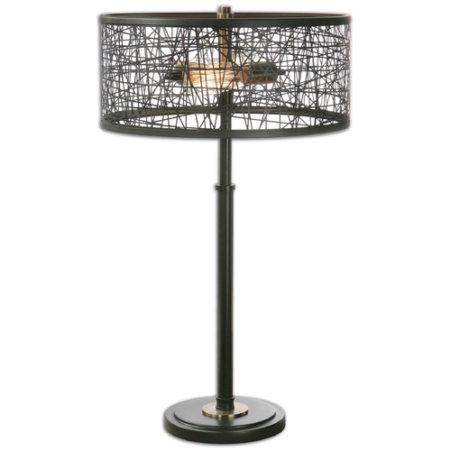Uttermost Lighting Uttermost Alita Black Drum Shade Lamp 26131-1