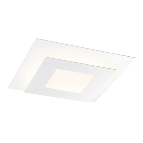 Sonneman Lighting Sonneman Offset Textured White LED Flushmount Light 2727.98