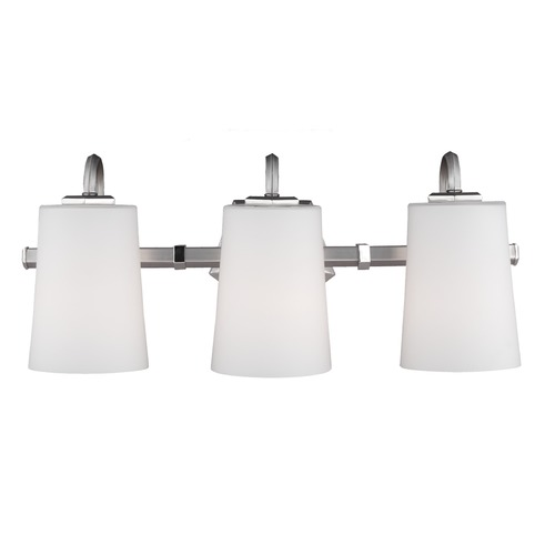 Feiss Lighting Feiss Lighting Pentagram Satin Nickel / Polished Nickel Bathroom Light VS20403SN/PN
