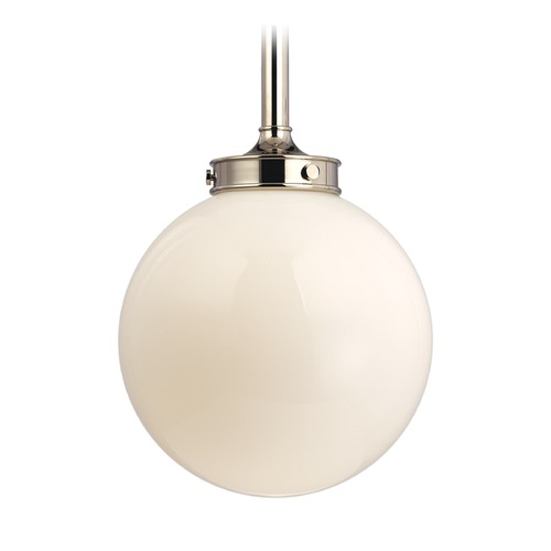 Hudson Valley Lighting Hudson Valley Lighting Concord Polished Nickel Pendant Light with Globe Shade 8817-PN