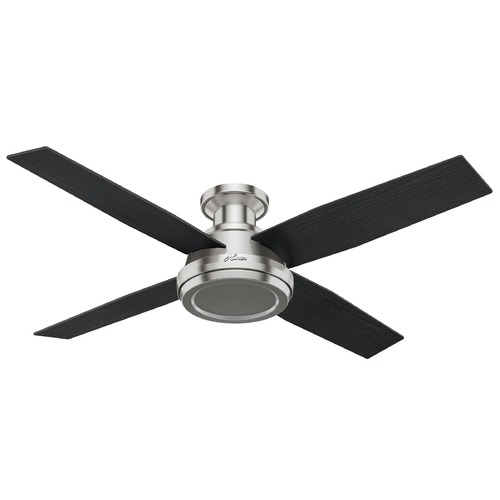 Hunter Fan Company Hunter Fan Company Dempsey Brushed Nickel Ceiling Fan Without Light 59247