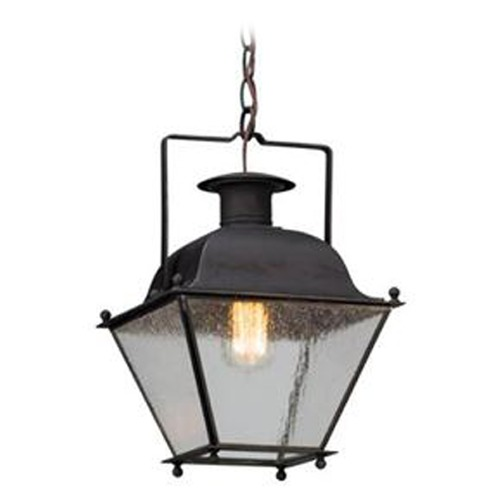 Troy Lighting Troy Lighting Wellesley Charred Iron LED Outdoor Hanging Light FL5077CI