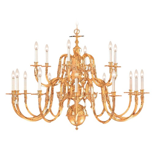 Crystorama Lighting Crystorama Lighting Hot Deal Polished Brass Chandelier 419-72-18