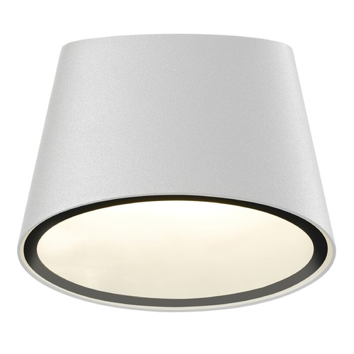 Sonneman Lighting Sonneman Elips Textured White LED Outdoor Wall Light 7220.98-WL