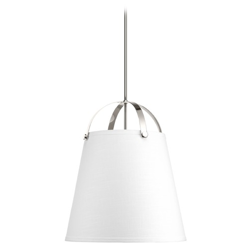 Galley Polished Nickel Pendant Light With Empire Shade By