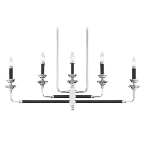 Savoy House Savoy House Lighting Davidson Black & Chrome Chandelier 1-9851-5-67