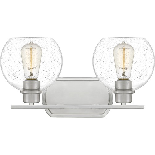 Quoizel Lighting Quoizel Lighting Pruitt Brushed Nickel Bathroom Light PRUS8617BN