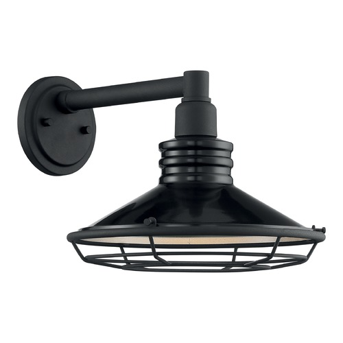 Satco Lighting Satco Lighting Blue Harbor Gloss Black / Silver Outdoor Wall Light 60/7032