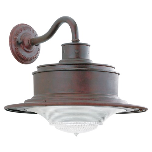 Troy Lighting Outdoor Wall Light with White Glass in Old Galvanize Finish B9391OG