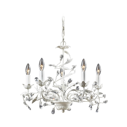 Elk Lighting Mini-Chandelier in Antique White Finish 18113/5