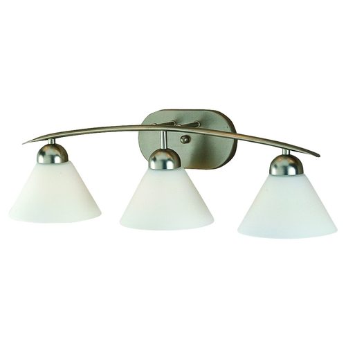 Quoizel Lighting Curved Modern Three-Light Bathroom Light DI8503ES