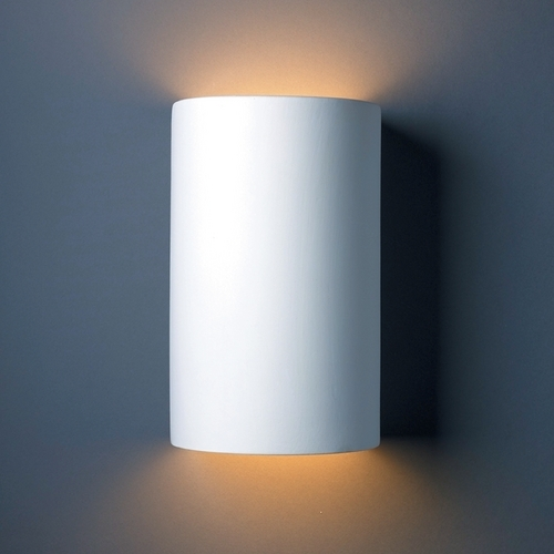 Justice Design Group Sconce Wall Light in Bisque Finish CER-1265-BIS