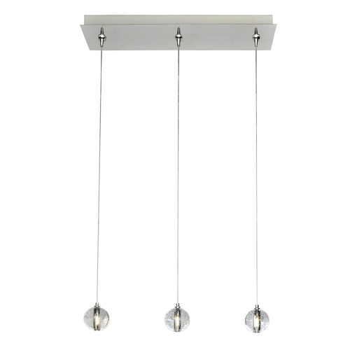 ET2 Lighting Harmony Polished Chrome LED Multi-Light Pendant with Globe Shade E24504-91PC