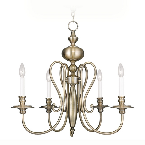 Livex Lighting Livex Lighting Caldwell Antique Brass Chandelier 5165-01