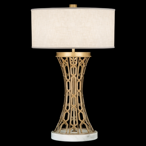 Fine Art Lamps Fine Art Lamps Allegretto Gold Burnished Gold Leaf with Subtle Brown Highlights Table Lamp with Drum 784910-2ST