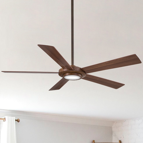 Minka Aire 52-Inch Minka Aire Sabot Distressed Koa LED Ceiling Fan with Light F745-DK