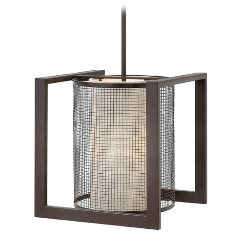 Hinkley Lighting Hinkley Lighting Renzo Regency Bronze Pendant Light with Cylindrical Shade 4033RB