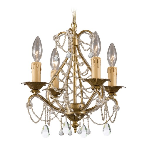 Crystorama Lighting Crystorama Lighting Paris Market Gold Leaf Crystal Chandelier 4714-GL-CL-MWP